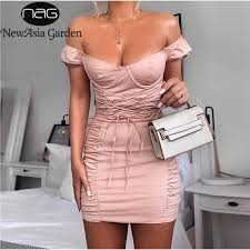 NewAsia Strapless Summer Dress Women 2019 New Corset Style V ...