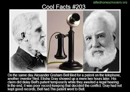 「Bell's patent filing beat a similar claim by Elisha Gray by only two hours.」の画像検索結果