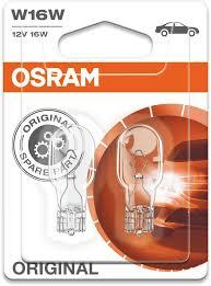 <b>Лампа</b> автомобильная накаливания <b>OSRAM</b> 921-02B, <b>W16W</b>, 2шт