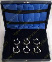 3400050129 Серебряный <b>набор колец для салфеток</b> «Романтика