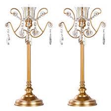 Amalfi Décor Tiffany <b>2</b>-<b>Piece Vintage</b> Gold Metal Candelabra <b>Set</b> ...
