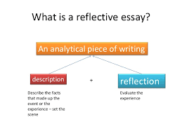 Identify the style of a reflective essay