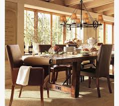 pottery barn style dining table:  table dining room tables pottery barn rustic expansive dining room tables pottery barn intended for