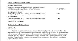 electronic engineer resume format electronic engineer resume sample