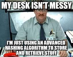 My Desk Isn't Messy - Milton meme on Memegen via Relatably.com