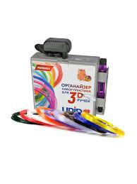<b>Набор</b> пластика для <b>3D ручек</b> в коробке-органайзере: PRO-9 (по ...