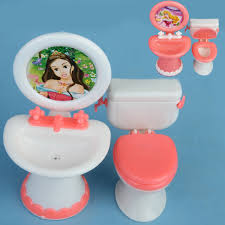 doll house dollhouse furniture bathroom set toilet and sink pretend play classic toys furniture toys best barbie dollhouse furniture cheap