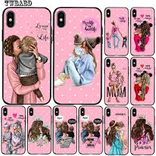 <b>Fashion Super Mom Baby</b> Girl For Funda iPhone X Case 5 5S 6 6S 7 8