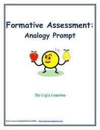 analogy essay topics analogy prompt formative assessment template  formative  for quotanalogy promptquot the