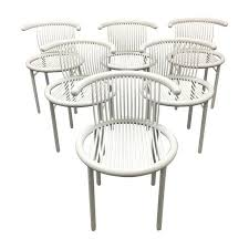 Image of Helmut Lubke White <b>Dining Chairs</b> - Set of <b>6</b> | White dining ...