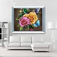 Sanwooden Retro Flower <b>5D DIY Resin Diamond</b> Embroidery ...