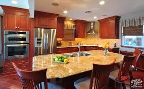 modern kitchen cabinet hardware traditional: cherry kitchen with granite island signature cherry mandian beam kitchen oa