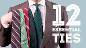 Wool Challis Tie in Olive <b>Green</b> with Small <b>Geometric Pattern</b> in <b>Red</b> ...