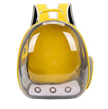 Рюкзак для <b>переноски</b> животных <b>ZDK Petsy transparent</b> (желтый ...