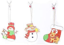 SDWZ <b>Cartoon Christmas Snowman</b>/Sock Wooden Pendants ...