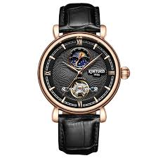 KINYUED Luxury Brand <b>Tourbillon</b> Automatic Watch Skeleton <b>Men</b> ...