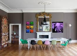 Esszimmer Gestalten Wände : Bunte stühle im esszimmer tolle beispiele