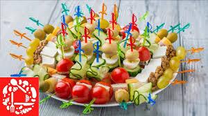 5 видов Канапе на Праздничный стол Мини бутерброды на ...