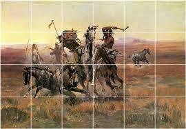 tile murals russell native american ceramic