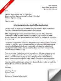 certified nursing assistant cover letter sample success with cover cna cover letter sample