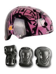 Набор защиты с <b>шлемом</b>, налокотниками и наколенниками для ...