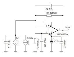 bootstrapping a photodiode high speed amplifiers forum high this will produce a 15 20 na 50 us pulse photodiode vishay bpw34 70 pf 2 na dark current in photovoltaic mode 0v bias necessary bandwidth 20 khz