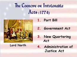 「Coercive Acts in 1774」の画像検索結果