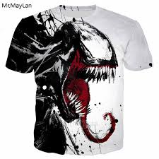 <b>Horror Movie Venom</b> 3D Print Tshirt Unisex Men/Women Hip Hop ...