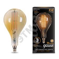<b>Лампа</b> светодиодная LED 8Вт Е27 2400К 780Лм <b>Vintage</b> Filament ...