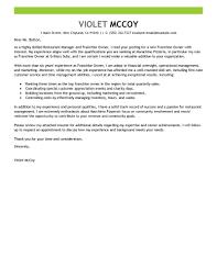 best franchise owner cover letter examples livecareer edit