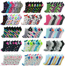 <b>12 Pairs Ladies</b> Trainer Liner Sports Socks Womens Girls Funky ...