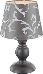 <b>Настольная лампа Globo 21693</b>, темно-серый, E14, 1x40W