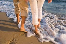 Resultado de imagem para pegadas na areia de duas pessoas