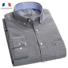 <b>LANGMENG</b> 2018 New <b>Spring Autumn</b> Oxford <b>Men</b> Shirts Long ...