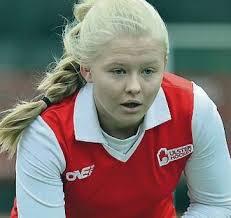 Hat-trick hero: Chloe Brown hit a trio of goals in the second-half. By John Flack – 16 November 2013 - SPT_20131116_SPO_048_29636392_I1