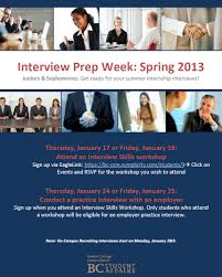 interviews boston college career center blog interview prep week