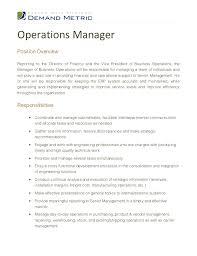 plant manager job description  template plant manager job description