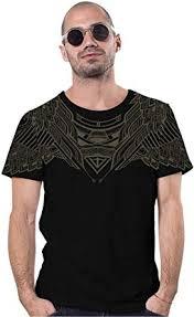 Men's T-Shirt - Tribal Street Art Owl Design - All Over ... - Amazon.com