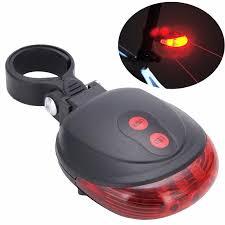 (Survivor) Bike Cycling Lights Waterproof <b>5 LED</b> 2 <b>Lasers</b> 3 Modes ...