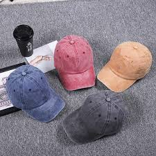 <b>High Quality Washed Cotton</b> Adjustable Solid Color Baseball Cap ...