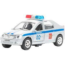 Купить <b>игрушку</b> служба спасения <b>Технопарк</b> Полиция <b>Renault</b> ...