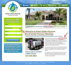 pressure washing website design analysis maniac marketing blog copywriting