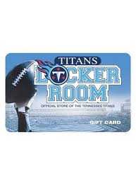 Titans Locker Room Gift Card | Titans Pro Shop