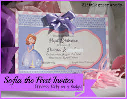 sofia the first birthday invites sofia the first party invitations princess party on a budget 3littlegreenwoods
