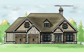 Story Bedroom House Plan   Oak Mountain Cottagemountain cottage house plan   two car garage