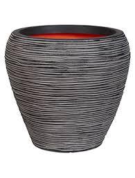 <b>Кашпо Capi</b> nature <b>rib</b> nl vase taper round anthracite D42 H38 ...