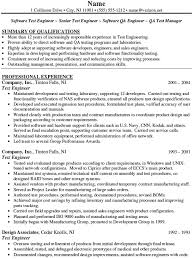 Sample Software Engineer Resume  entry level software engineer     happytom co Resume Samples for Software Tester