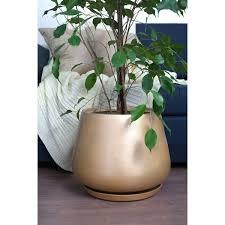 <b>Горшок</b> цветочный «Скарлет», 28 см, <b>керамика</b>, цвет золотистый ...