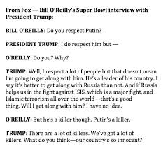 trump makes astonishing admission in o reilly pre game interview there have been several poisonings of putin s political opponents over the years in addition to shootings mysterious heart attacks and car accidents