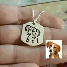 Pet <b>Photo Necklace</b> -Dog <b>Photo</b> Engraving - <b>Personalized Picture</b> ...